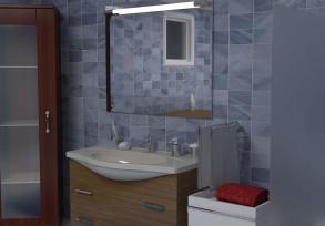 3D Studio | Banyo Sahnesi | Materyal ve Aydınlatma Çalışması